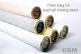 Baghouse filter bags for asphalt mixing plant